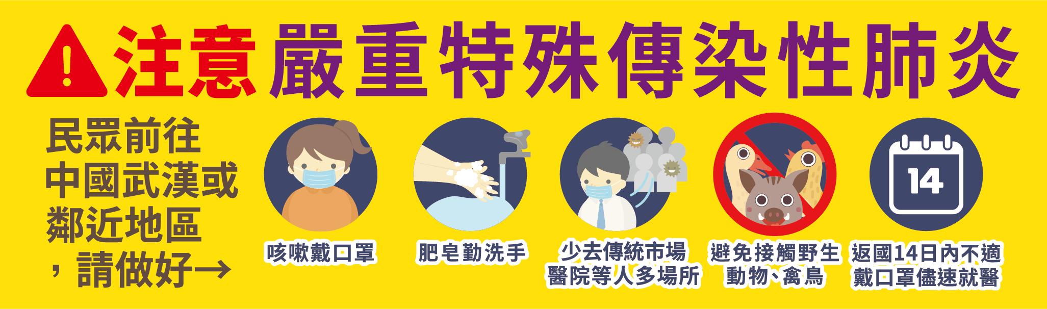注意嚴重特殊傳染性肺炎(另開新視窗)